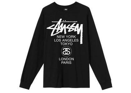 Stussy World Tour LS Tee Black (SS21)の写真