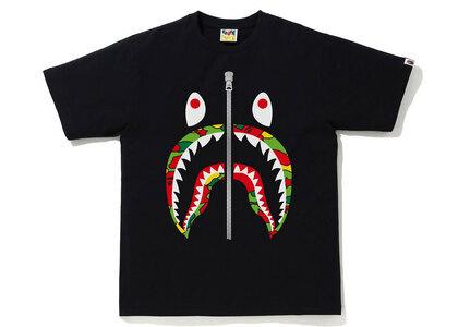 Bape STA Camo Shark Tee Mens Black x Multi (SS21)の写真