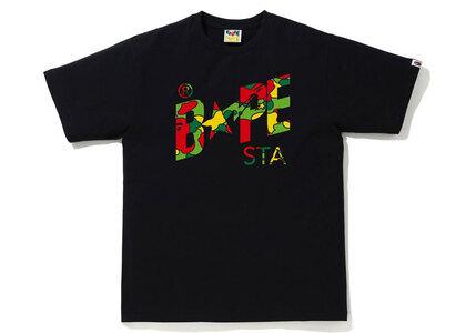 Bape STA Camo Bape STA Logo Tee Black x Multi (SS21)の写真