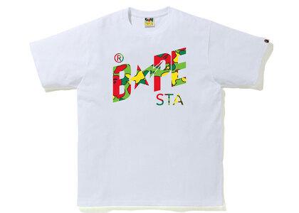 Bape STA Camo Bape STA Logo Tee White x Multi (SS21)の写真