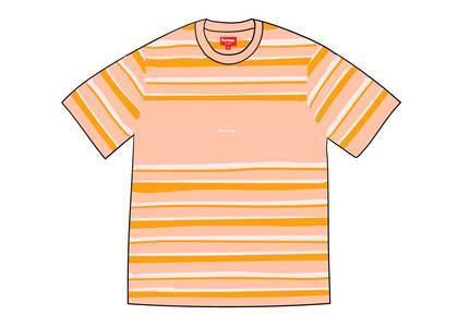 Supreme Blocked Stripe S-S Top Peachの写真