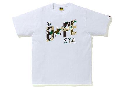 Bape STA Camo Bape STA Logo Tee White x Yellow (SS21)の写真