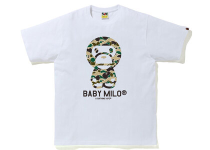 Bape STA Camo Baby Milo Tee White x Yellow (SS21)の写真