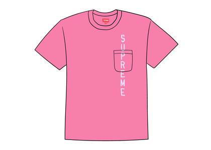 Supreme Contrast Stitch Pocket Tee Pinkの写真