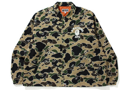 Bape STA Camo Relaxed Fit Coach Jacket Yellow (SS21)の写真
