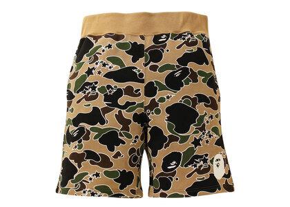 Bape STA Camo Sweat Shorts Yellow (SS21)の写真
