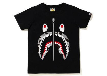 Bape STA Camo Shark Tee Ladies Black x Black (SS21)の写真