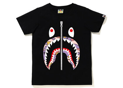 Bape STA Camo Shark Tee Ladies Black x Pink (SS21)の写真