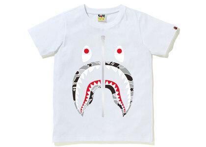 Bape STA Camo Shark Tee Ladies White x Black (SS21)の写真