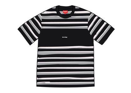 Supreme Blocked Stripe S-S Top Blackの写真