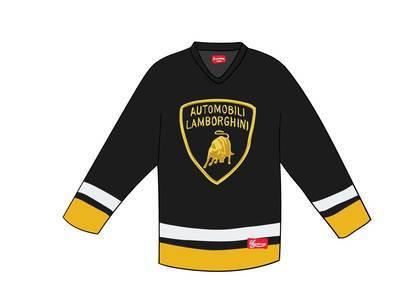 Supreme Automobili Lamborghini Hockey Jersey Blackの写真