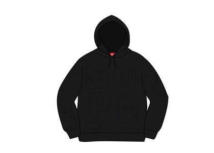 Supreme Cutout Letters Hooded Sweatshirt Blackの写真