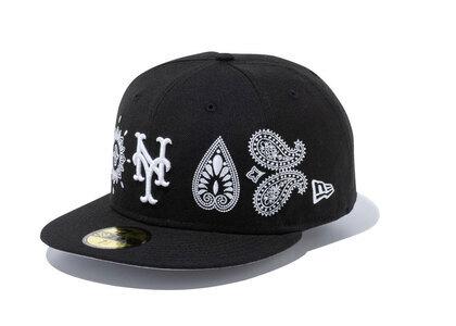 New Era 59FIFTY Paisley Elements New York Mets Blackの写真