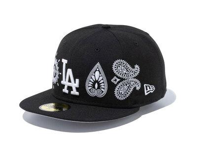 New Era 59FIFTY Paisley Elements Los Angeles Dodgers Blackの写真