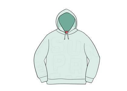 Supreme Cutout Letters Hooded Sweatshirt Ice Blueの写真
