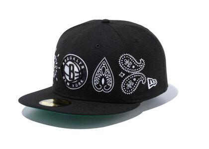 New Era 59FIFTY Paisley Elements Brooklyn Nets Blackの写真