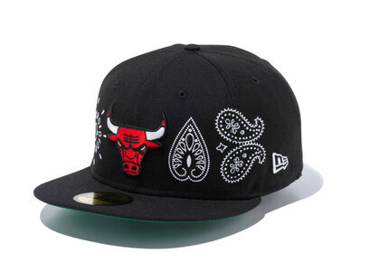 New Era 59FIFTY Paisley Elements Chicago Bulls Blackの写真