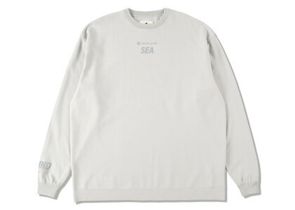 Snow Peak x WIND AND SEA CO/PE Dry L/S Tshirt Light Grayの写真