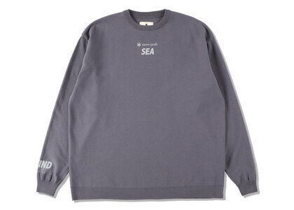 Snow Peak x WIND AND SEA CO/PE Dry L/S Tshirt Dark Grayの写真