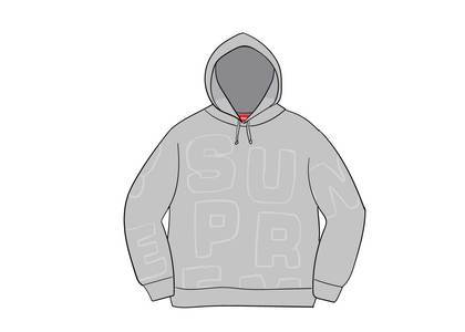 Supreme Cutout Letters Hooded Sweatshirt Heather Greyの写真
