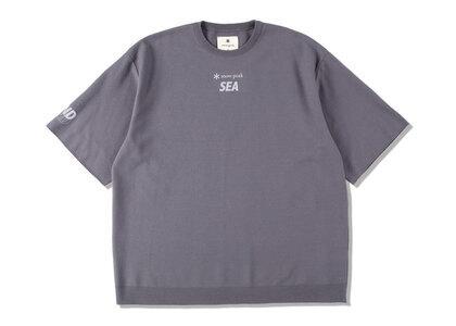 Snow Peak x WIND AND SEA CO/PE Dry S/S Tshirt Dark Grayの写真