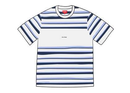 Supreme Blocked Stripe S-S Top Whiteの写真