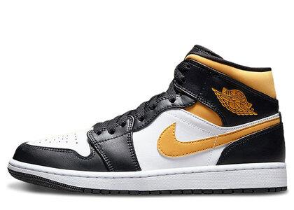 Nike Air Jordan 1 Mid University Gold/Blackの写真