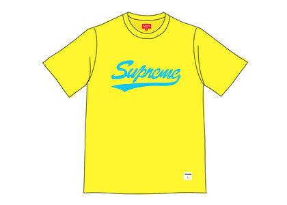 Supreme Intarsia Script S-S Top Yellowの写真