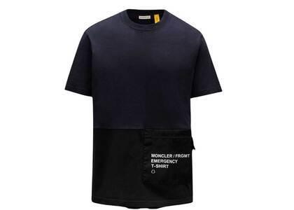 Fragment × Moncler T-Shirt With Pocket Navyの写真
