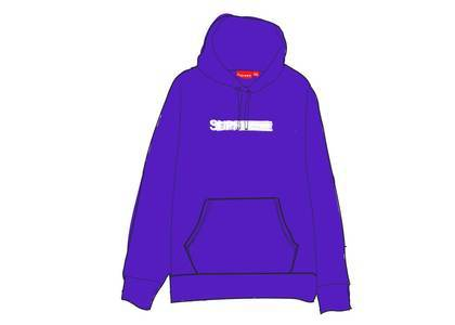 Supreme Motion Logo Hooded Sweatshirt (SS20) Purpleの写真