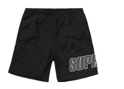 Supreme Logo Applique Water Short Blackの写真
