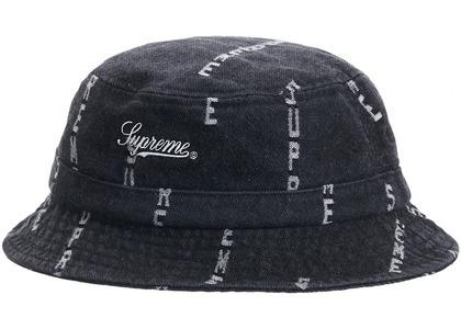 Supreme Logo Stripe Jacquard Denim Crusher Blackの写真
