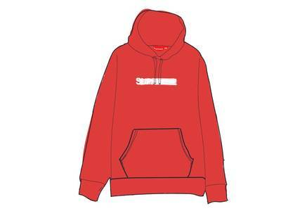 Supreme Motion Logo Hooded Sweatshirt (SS20) Redの写真