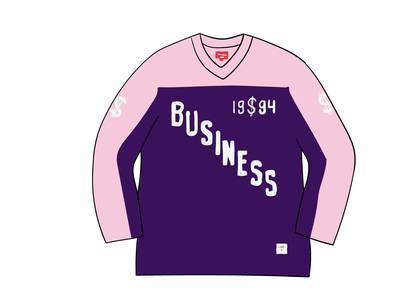 Supreme Business Hockey Jersey Purpleの写真