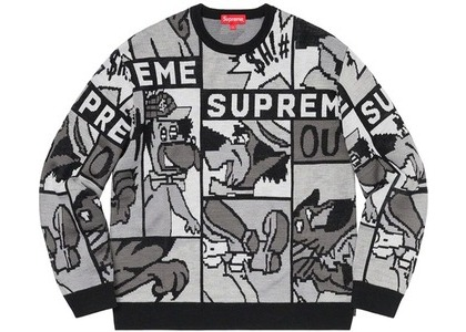 Supreme Cartoon Sweater Blackの写真