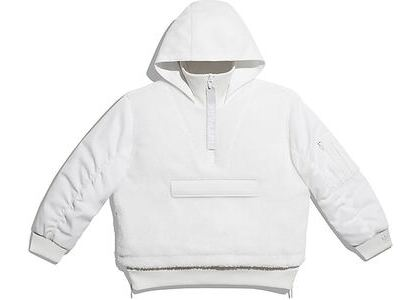 adidas Ivy Park 1/2 Zip Sherpa Layered Jacket (All Gender) Core White (SS21)の写真