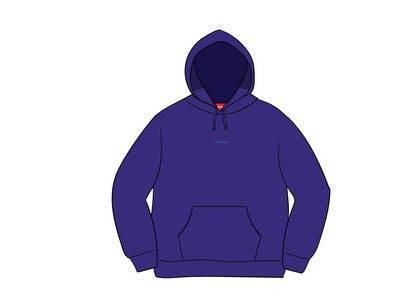 Supreme Digital Logo Hooded Sweatshirt Dark Royalの写真
