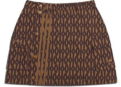 adidas Ivy Park Monogram Skirt Wild Brown/Night Red (SS21)の写真