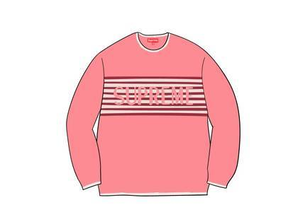 Supreme Chest Stripe Sweater Coralの写真