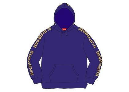 Supreme Metallic Rib Hooded Sweatshirt Dark Royalの写真