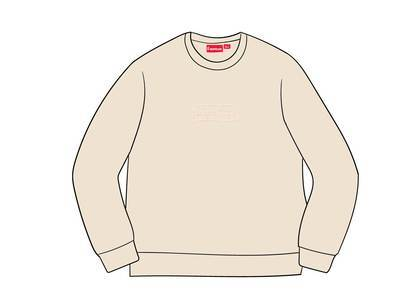 Supreme Cutout Logo Crewneck Naturalの写真