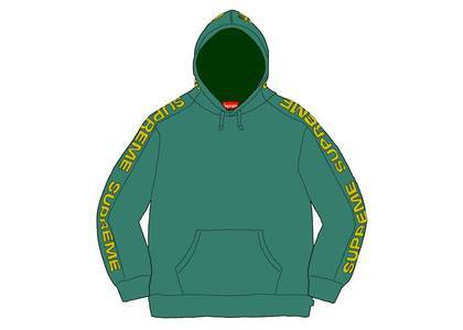 Supreme Metallic Rib Hooded Sweatshirt Light Pineの写真