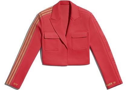 adidas Ivy Park Crop Suit Jacket Real Coral (FW20)の写真