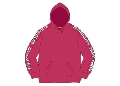 Supreme Metallic Rib Hooded Sweatshirt Fuschiaの写真