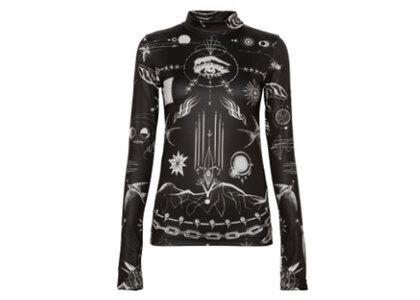 sacai x Jean Paul Gaultier Print Long Sleeve T-Shirt Blackの写真