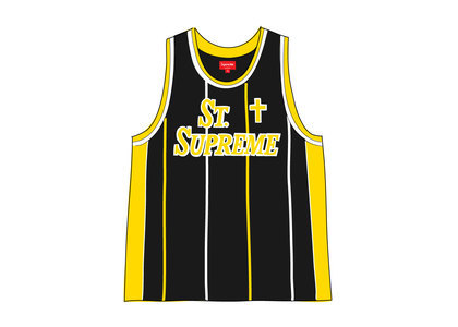 Supreme St. Supreme Basketball Jersey Blackの写真