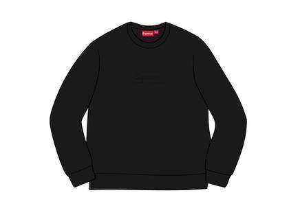 Supreme Cutout Logo Crewneck Blackの写真