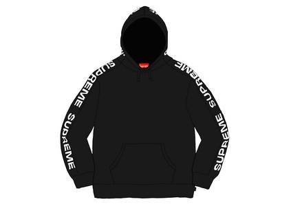 Supreme Metallic Rib Hooded Sweatshirt Blackの写真