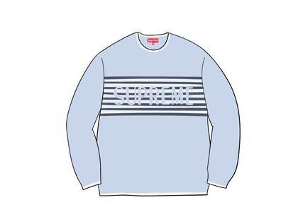 Supreme Chest Stripe Sweater Light Blueの写真
