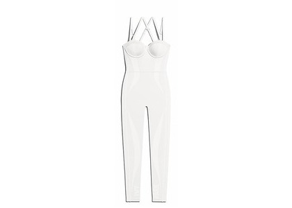 adidas Ivy Park Knit Catsuit Core White (SS21)の写真